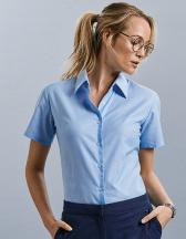Ladies` Short Sleeve Oxford Shirt